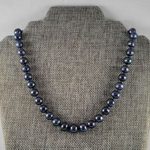 REAL 10mm Black Pearl Necklace